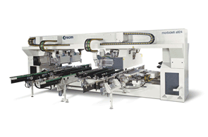 Automatic Throughfeed Drilling Machines