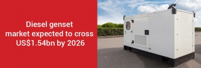 Diesel genset market expected to cross US$1.54bn by 2026